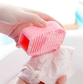 Mini Silicone Laundry Brush